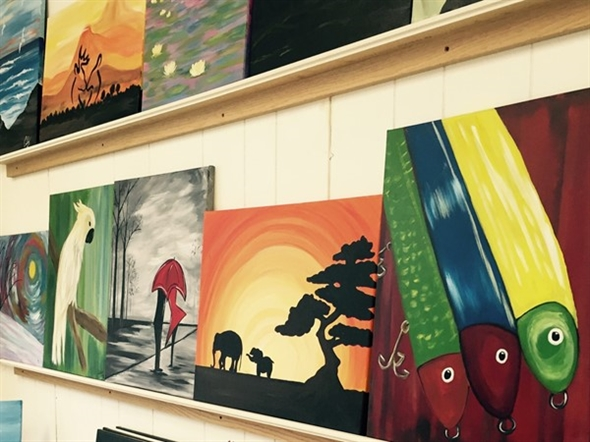 The Painted Canvas makes for a fun filled day with friends! Always something to do in Clarksville