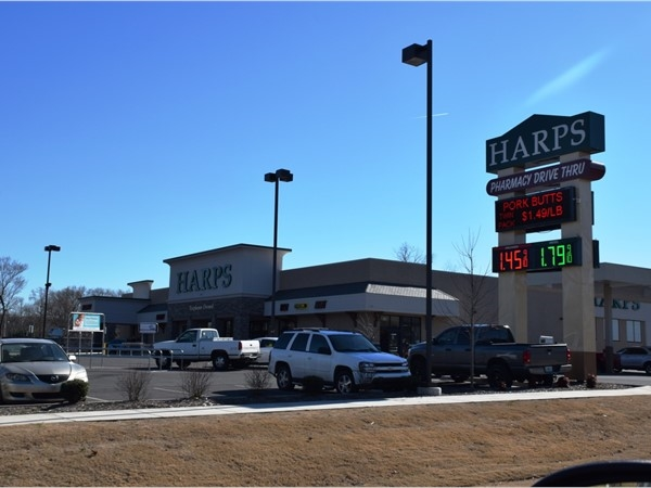 Harps grocery store is a regional employee owned chain of groceries that are popular for locals