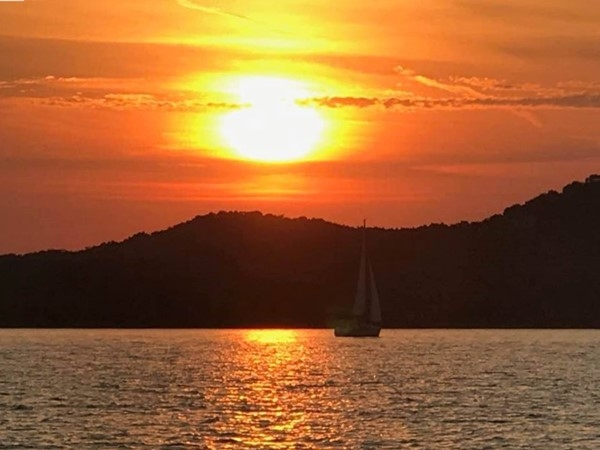 Beautiful evening on Beaver Lake in Benton County