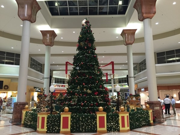 The entire Turtle Creek Mall is beautifully decorated