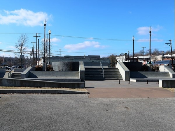 Harrison Skate Park, located just off the Harrison Square, fun for the adventurous ones