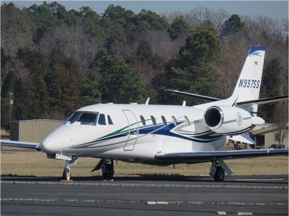 Jet setter at Clarksville Municipal Airport