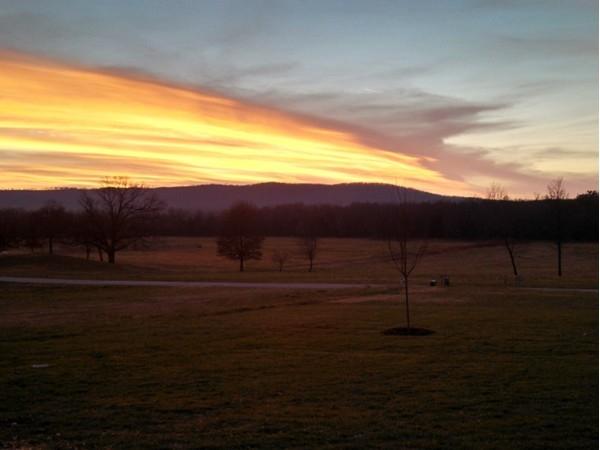 Beautiful sunset in Harrison