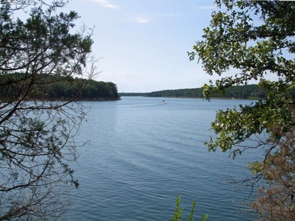 View of Greers Ferry Lake heading toward Dam Site Marina