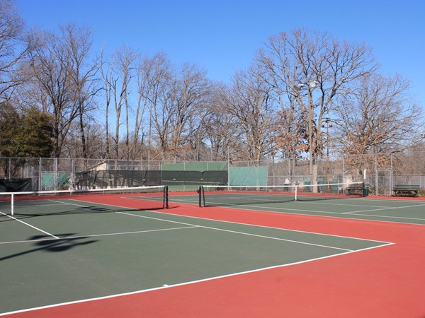 Two of the eight hardcourts at the Kingsdale Tennis Complex