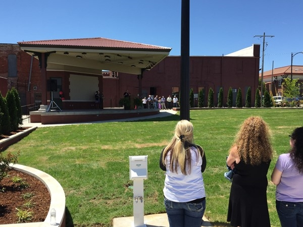 Dedication of Russellville's newest city park, Depot Park