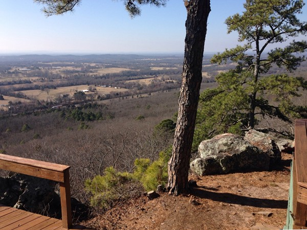 A fabulous view from the bluff side of Crow Mountain