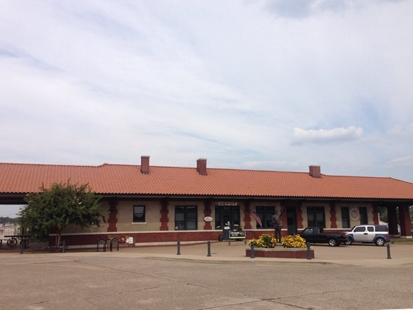 The Russellville Train Depot in Downtown Russellville is now used for special events