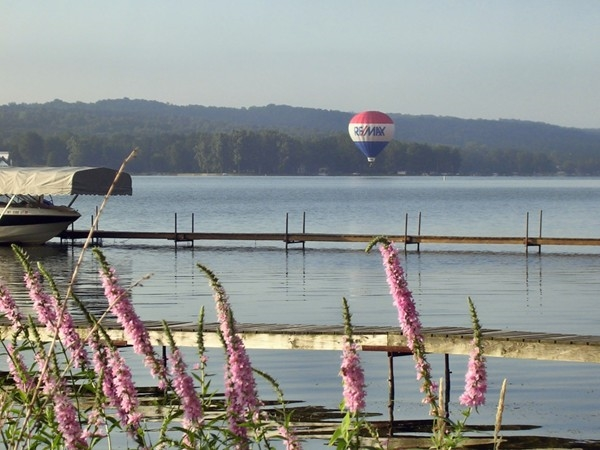 Conesus Lake is beautiful by boat or balloon