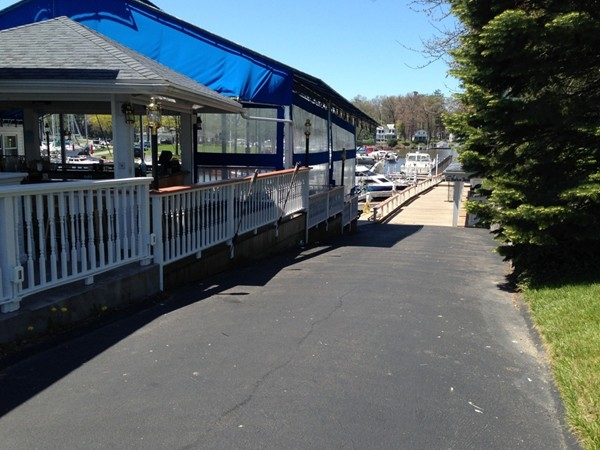 Wonderful outdoor Wilson Harbor waterside restaurant. Watch boating activity, relax and enjoy