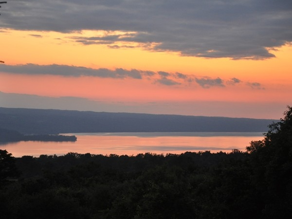 Always travel with your camera --- View to Cayuga Lake from Triphammer Road in Lansing