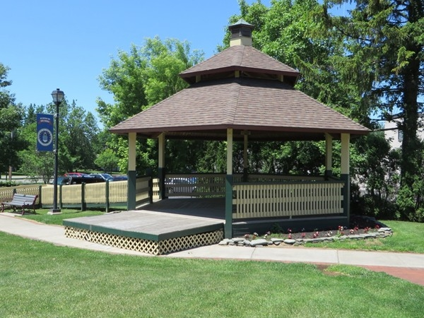 Band Shell in Veterans Park on North Avenue in the Village of Webster