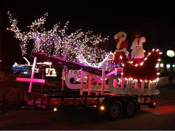 Santa and Mrs. Claus at the Seabreeze Winter Parade