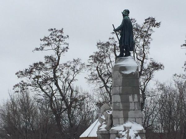 Even great heroes like Samuel de Champlain need a winter break