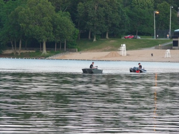 Boaters out for fishing and fun