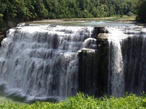 Letchworth State Park Falls, captivating to see and hear