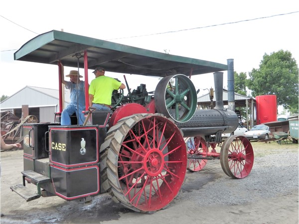 A Steam Engine tractor at the Canandaigua Steam Engine Festival