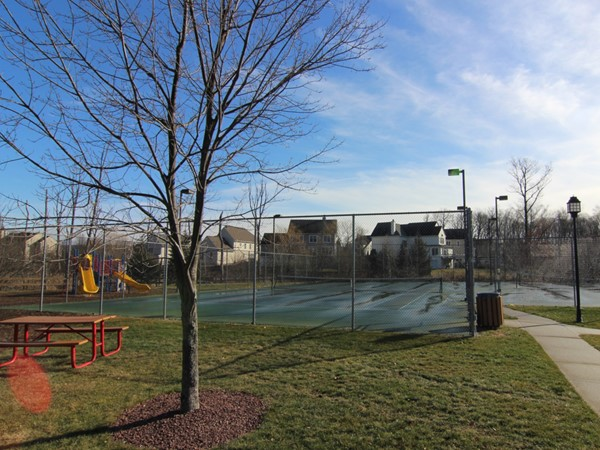 Tennis courts at Brigadoon