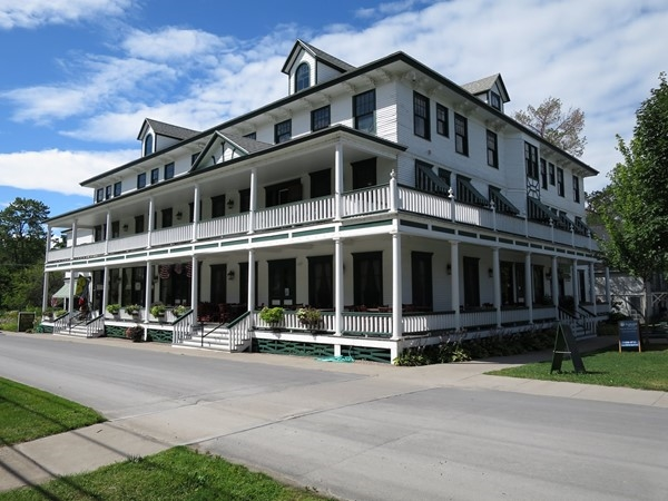 Built in 1903, the Wellesley Hotel boasts beautiful views of the St. Lawrence River