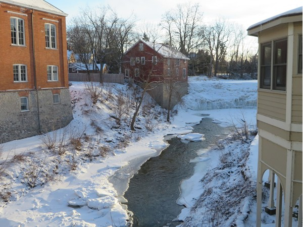 Honeoye Creek as it winds it's way through the village of Honeoye Falls