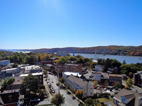 The City of Poughkeepsie from the Walkway over the Hudson