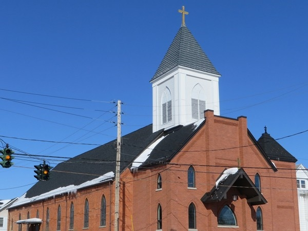 ST Jerome's Church on Garfield and Commercial Street in East Rochester, built in the early 1900's