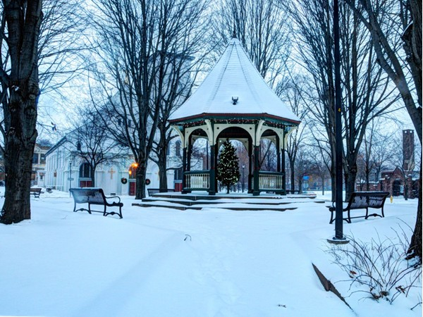 The Corn Hill Gazebo, located at Lunsford Park, is decorated each December for the Christmas holiday