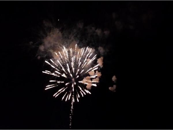 Fireworks on a summer evening at Renegades Stadium