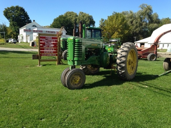 Tractors are a part of our farming culture in CNY. These are at Henry's Farm Stand in Chittenango