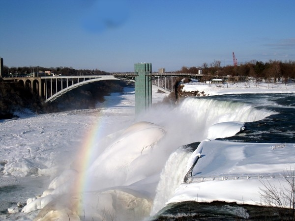 View of the American Falls, only 15 miles from downtown Buffalo. This picture was taken Feb 2014