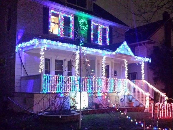Holiday lights in the Village of Kenmore