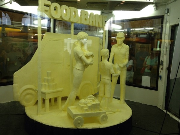 The butter sculpture in the Dairy Building at the State Fair