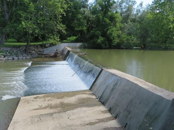 Falls in Rush from Honeoye Creek at the Veterans Memorial Park
