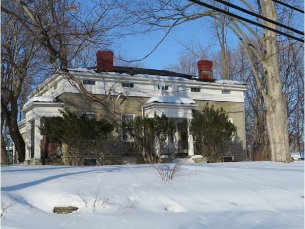 One of the older Century old homes in Honeoye Falls overlooking the creek