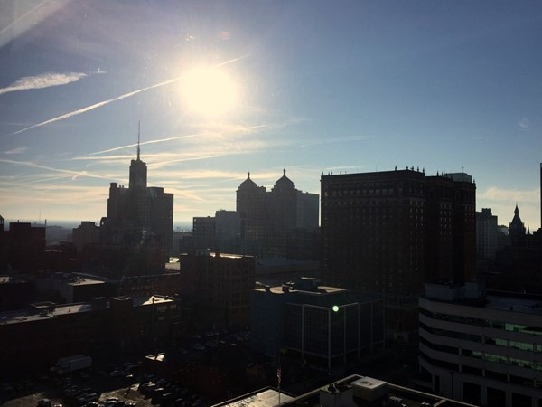 Last view from the Avant Building in downtown Buffalo - Dec 15'