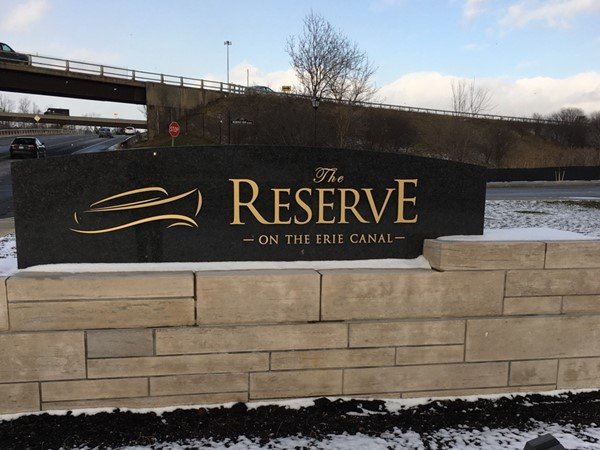 Entrance to The Reserve On The Erie Canal