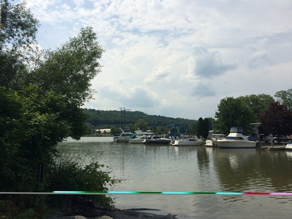 Park your boat near the Ithaca Farmer's Market.  Land or sea!