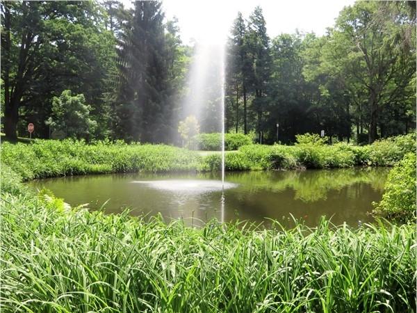 Fountain by the Glen Iris Inn in Letchworth State Park near Portage