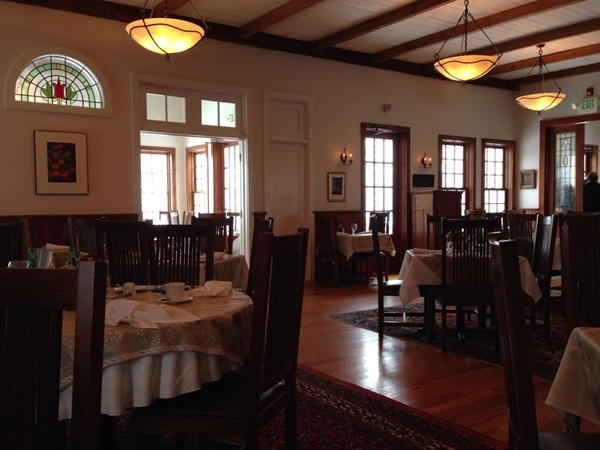 Elderberry Pond Restaurant on a certified organic farm, offers fine dining in a beautiful setting
