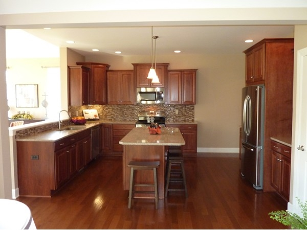 Stunning kitchen in the model home at Beaver Creek Estates by @home Builders