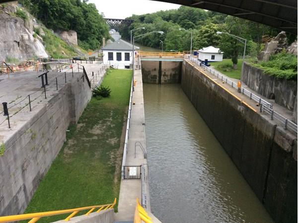 Locks number 34 and 35 along the Erie Canal in Lockport NY.  Located on Pine at Canal St.
