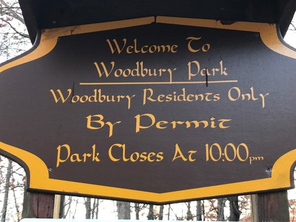 Woodbury Park is rarely over crowded because it's only open to Woodbury Residents and guests