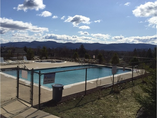 Enjoy the pool area with magnificent mountain views
