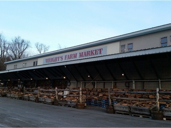 I buy my fresh fruit at local farm market in Modena, NY. They are also selling split firewood