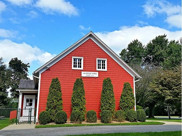 This one room school, built in 1885, still functions as a school. Sagaponack Common School