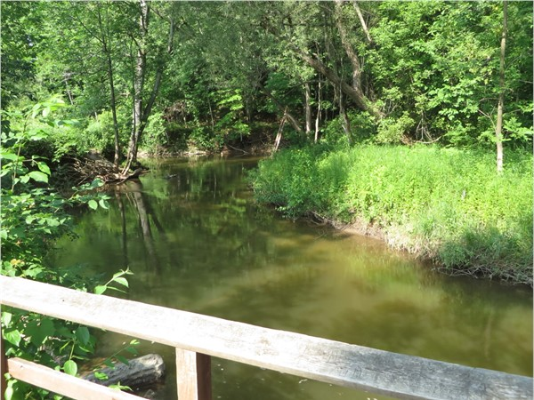 Another beautiful view of the creek flowing through Powder Mill Park in Perinton