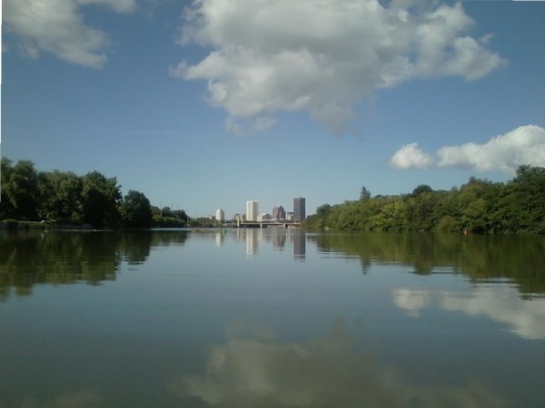 Stunning view from one of Rochester's great waterways!