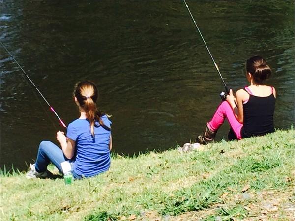 Girls gone fishing at Black Rock Fish and Game Club