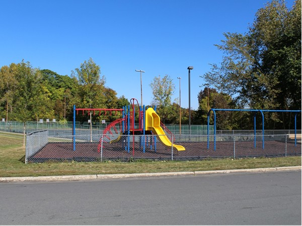 One of two playgrounds in Whispering Hills