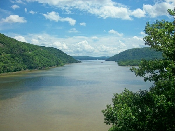 Hudson River view from Bear Mountain Bridge!